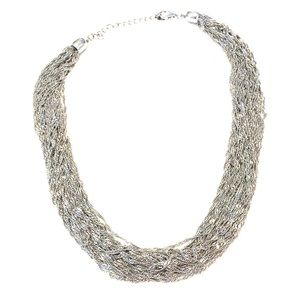 Dark silver metal necklace